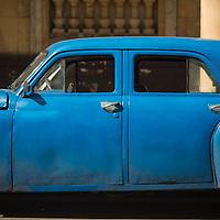 Cuba, Havana central, old car, blue car, cuba cars
