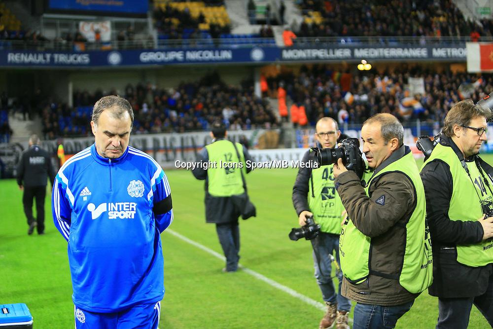MArcelo BIELSA - 09.01.2015 - Montpellier / Marseille - 20eme journee de Ligue 1<br />Photo : Nicolas Guyonnet / Icon Sport
