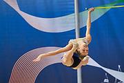 Flavia Maggi from Polimnia team during the Italian Rhythmic Gymnastics Championship in Padova, 25 November 2017.