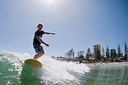 2012, February 10: Jared Neal surfs at Rainbow Bay on the southern end of the Gold Coast, Queensland, Australia on Friday February 10th, 2012. (Photo: Matt Roberts/OOL media)