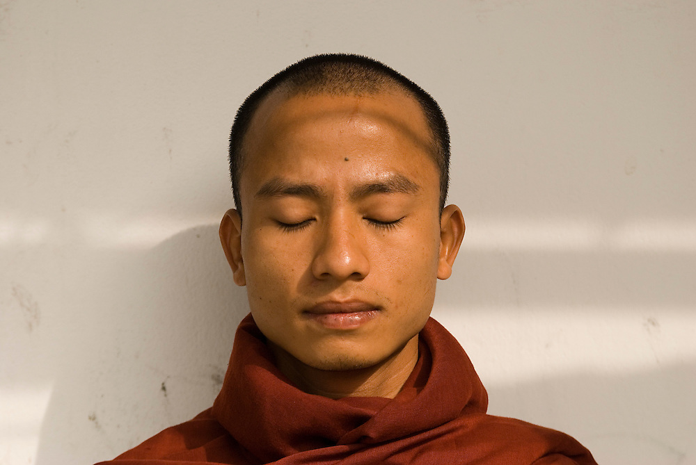 Ashin Kovida, a monk leader of the recent peaceful protests in Myanmar at a safe house in Thailand, on Tuesday October 30, 2007.  After the brutal crack down on demonstators by the Myanmar Junta he disguised himself and fled to Thailand.