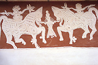 Inde - Rajasthan - Village des environs de Tonk -Peinture murale