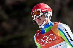 PYEONGCHANG-GUN, SOUTH KOREA - FEBRUARY 22: Zan Kranjec of Slovenia reacts during the Men's Slalom on day 13 of the PyeongChang 2018 Winter Olympic Games at Yongpyong Alpine Centre on February 22, 2018 in Pyeongchang-gun, South Korea.  Photo by Kim Jong-man / Sportida