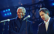 Nelson Mandela and Tony Blair - Trafalger Square - London 2001