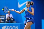 Madison Keys in action during the quarter finals during the Aegon Classic at Edgbaston Priory Club, Birmingham, United Kingdom on 17 June 2016. Photo by Shane Healey.