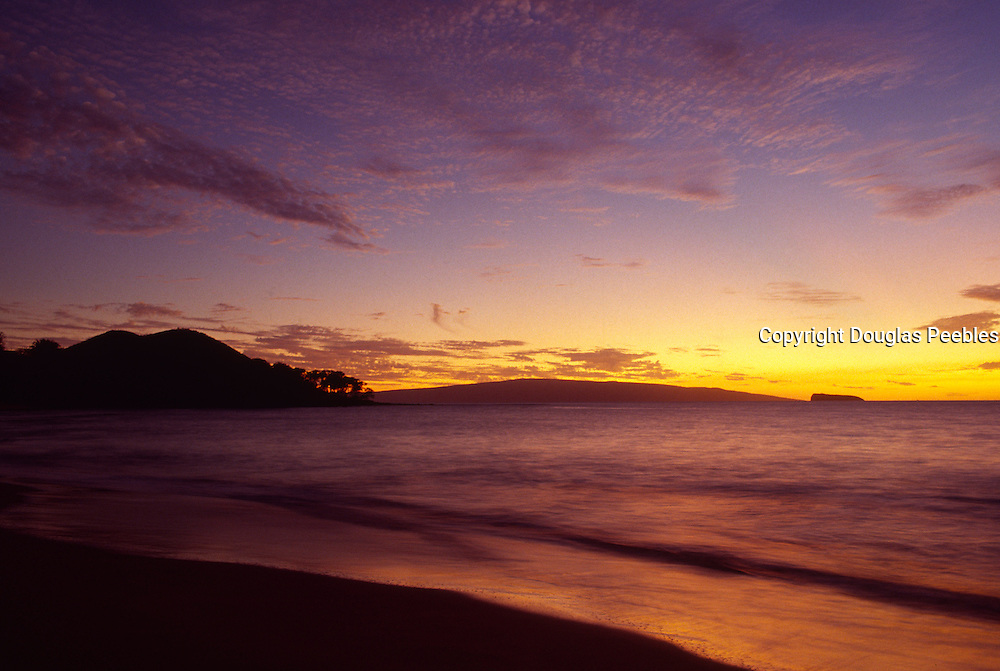 Sunset, Wailea Beach, Maui, Hawaii, USA<br />