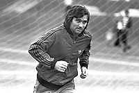 N Ireland international footballer George Best at a training session before N Ireland's game against the Rep of Ireland at Windsor Park, Belfast, N Ireland, UK. September 1977. 197709200021<br /> <br /> Copyright Image from Victor Patterson, 54 Dorchester Park, Belfast, UK, BT9 6RJ<br /> <br /> t1: +44 28 9066 1296 (from Rep of Ireland 048 9066 1296)<br /> t2: +44 28 9002 2446 (from Rep of Ireland 048 9002 2446)<br /> m: +44 7802 353836<br /> <br /> victorpattersonbelfast@gmail.com<br /> victorpatterson@me.com<br /> <br /> www.victorpatterson.com<br /> <br /> Please see my Terms and Conditions of Use at https://www.victorpatterson.com/page2<br /> It is IMPORTANT that you familiarise yourself with them.<br /> <br /> Images used on the Internet incur an additional cost and must be visibly watermarked i.e. © Victor Patterson within the body of the image and copyright metadata must not be deleted. Images used on the Internet have a size restriction of 4kbs and are chargeable at rates available at victorpatterson.com.<br /> <br /> This image is available only for the use of the download recipient i.e. television station, newspaper, magazine, book publisher, etc, and must not be passed on to any third party. It is also downloaded on condition that each and every usage is notified within 7 days to victorpatterson@me.com<br /> <br /> The right of Victor Patterson (or the named photographer) to be identified as the author is asserted in accordance with The Copyright Designs And Patents Act (1988). All moral rights are asserted.