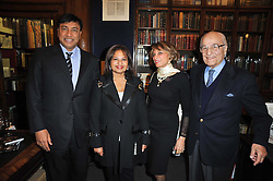 Multi millionaire LAKSHMI MITTAL, USHA MITTAL and MONSEN & AZAR BANIHASHEM at a party to celebrate the publication of Maryam Sach's novel 'Without Saying Goodbye' held at Sotheran's Bookshop, 2 Sackville Street, London on 10th November 2009.