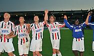 30-08-2008 VOETBAL:WILLEM II:AJAX:TILBURG<br /> Arjan Swinkels en Danny Mathijssen (midden) vieren samen met Schenkel en Veloso (links) en Sergio Zijler (rechts) de overwinning op Ajax<br /> <br /> Foto: Geert van Erven