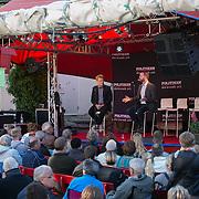 Morten Østergaard, leader af de Radikale Venstre i Hævnens Time hos Politiken på Gæstgiveren. Folkemøde 2015 i Allinge på Bornholm.