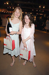 Left to right, FLORA SLATER and ROSE SLATER daughters of Simon & Katie Slater at a party for the Royal Marsden Hospital held at the Chelsea Gardener, Sydney Street, London on 6th May 2008.<br /><br />NON EXCLUSIVE - WORLD RIGHTS