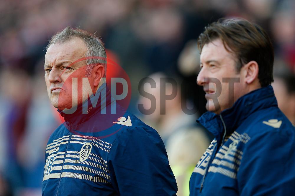Leeds United Manager Neil Redfearn (left) looks on - Photo mandatory by-line: Rogan Thomson/JMP - 07966 386802 - 04/01/2015 - SPORT - FOOTBALL - Sunderland, England - Stadium of Light - Sunderland v Leeds United - FA Cup Third Round Proper.