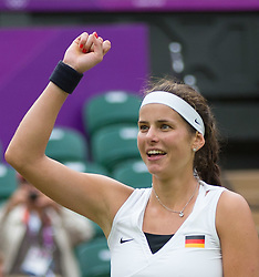 29.07.2012, Wimbledon, London, GBR, Olympia 2012, Tennis, Damen Einzel, Runde 1, im Bild Julia Goerges (GER) // Julia Goerges of Germany #during first Round of ladies singles tennis competition at the 2012 Summer Olympics at Wimbledon, London, United Kingdom on 2012/07/29. EXPA Pictures © 2012, PhotoCredit: EXPA/ Johann Groder