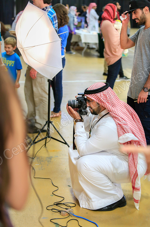 The Saudi Students Club at CMU celebrated Saudi National Day Friday, September 25, 2015 in Finch Fieldhouse.  Photos by Steve Jessmore/Central Michigan University