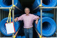 "Julian Majzub, founder / owner of ""Blockley tyre"" at home in Gloucestershire."