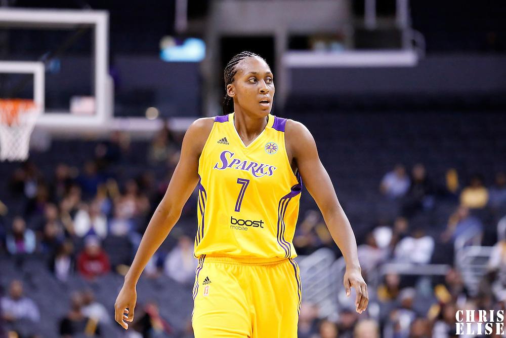 17 June 2014: Los Angeles Sparks forward/center Sandrine Gruda (7) is seen during the Minnesota Lynx  94-77 victory over the Los Angeles Sparks, at the Staples Center, Los Angeles, California, USA.