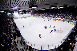 View from the top on the ice rink at IIHF Ice-hockey World Championships Division I Group B match between National teams of Hungary and Slovenia, on April 23, 2010, in Tivoli hall, Ljubljana, Slovenia. (Photo by Matic Klansek Velej / Sportida)