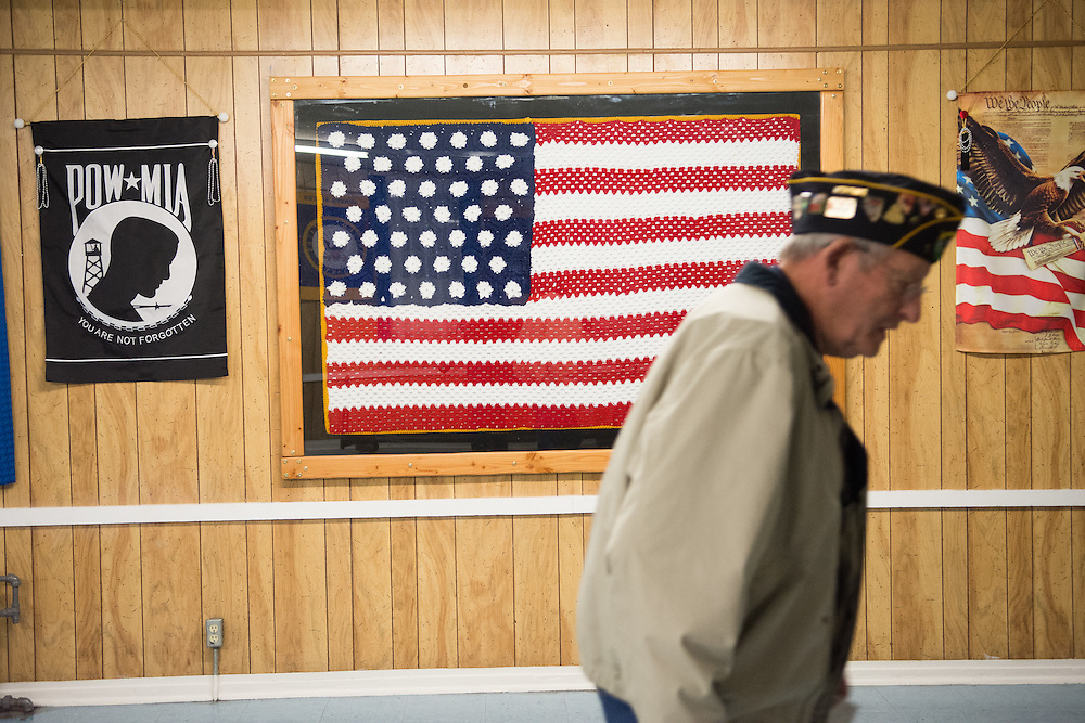 David Cairns arrives at American Legion Post 1 in Reno, Nev. before a System Worth Saving town hall on Tuesday, March 8, 2016. Photo by David Calvert /The American Legion.