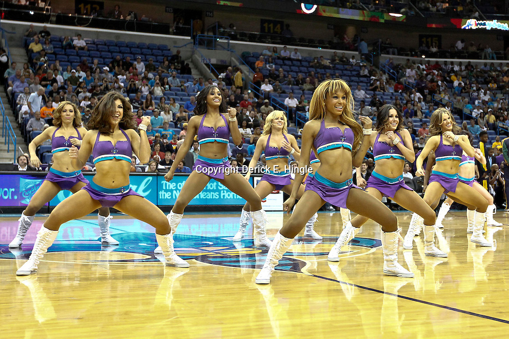 November 2, 2012; New Orleans, LA, USA; New Orleans Hornets Honeybees perform during the second quarter of a game against the Utah Jazz at the New Orleans Arena. Mandatory Credit: Derick E. Hingle-US PRESSWIRE