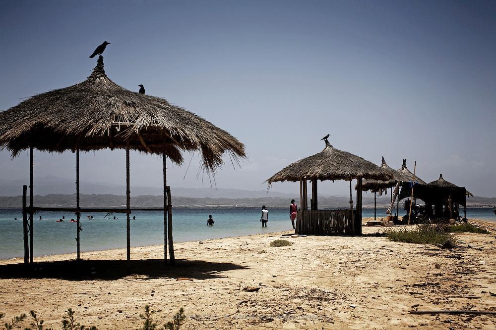 Locals relax on the Red Sea, Massawa, Eritrea.