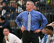 Webster Schroeder Head Coach Matt Spadoni gives instructions during a game against Greece Athena on Friday, January 23, 2015.