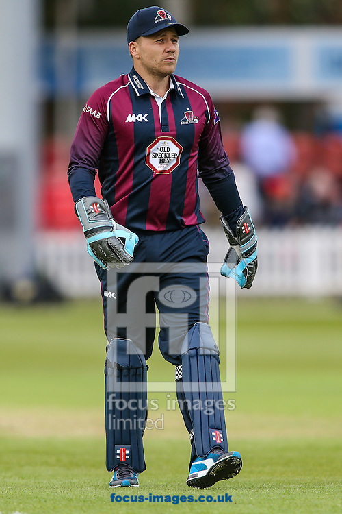 Adam Rossington of Northants Steelbacks during the Natwest T20 Blast match at Grace Road, Leicester<br /> Picture by Andy Kearns/Focus Images Ltd 0781 864 4264<br /> 20/05/2016