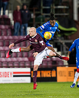 Football - 2019 / 2020 William Hill Scottish Cup - Quarter-Final: Heart of Midlothian vs. Rangers<br /> <br /> Steven Naismith of Hearts vies with Joe Aribo of Rangers, at Tynecastle Park, Edinburgh.<br /> <br /> COLORSPORT/BRUCE WHITE