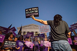 July 9, 2018 - Washington, District of Columbia, U.S. - Pro-choice and anti-abortion protesters demonstrate in front of the U.S. Supreme Court prior to President Trump nominating federal judge Kavanaugh to Supreme Court to succeed retiring Justice Kennedy. (Credit Image: © Ken Cedeno via ZUMA Wire)