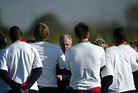 Englands coach Sven-Goran Eriksson gets his point across during training for the match against Wales<br /> <br /> Back Page Images - Mobile 07887 794393 - email: jgarcia@nildram.co.ukRY&A