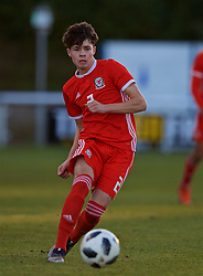 BANGOR, WALES - Saturday, November 17, 2018: Wales' Neco Williams during the UEFA Under-19 Championship 2019 Qualifying Group 4 match between Sweden and Wales at the Nantporth Stadium. (Pic by Paul Greenwood/Propaganda)