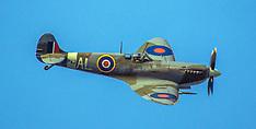 Wellington-Spitfire fly pass over National War Memorial
