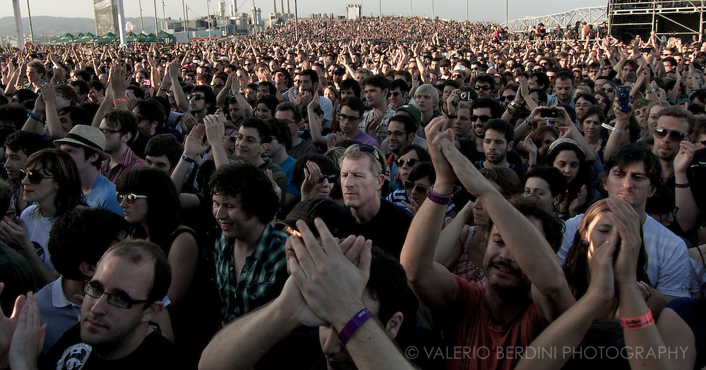 Primavera Sound 2011.Barcelona .Fleet Foxes audience