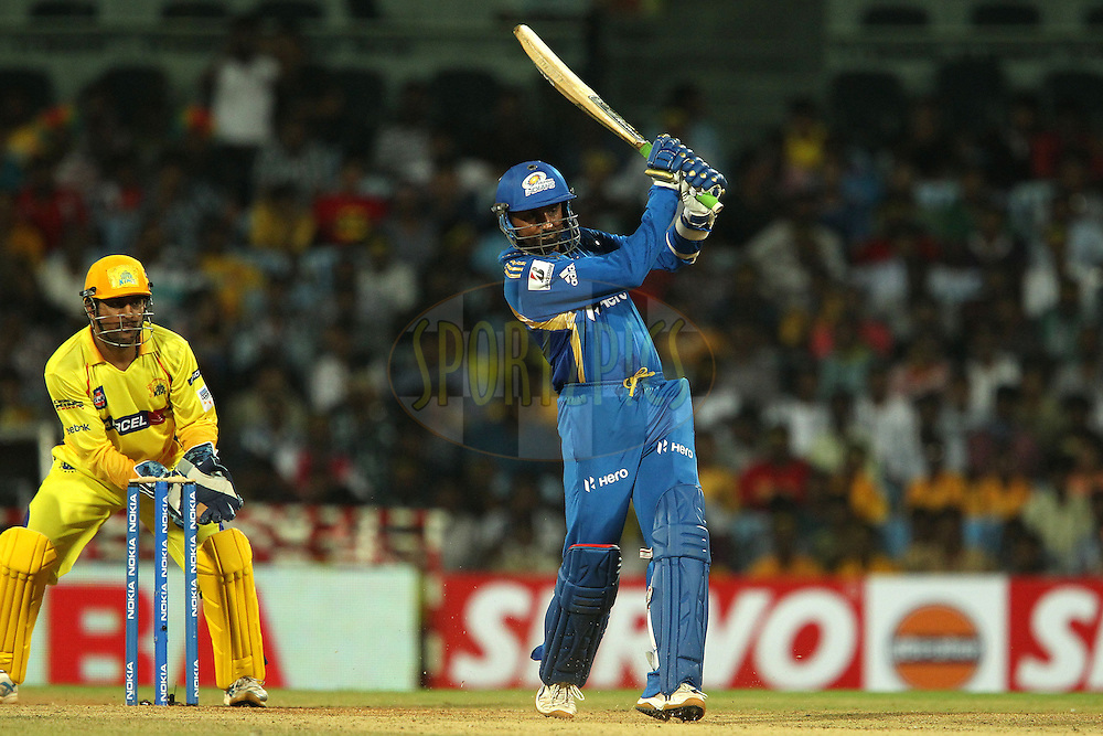 Harbhajan Singh during match 3 of the NOKIA Champions League T20 ( CLT20 )between the Chennai Superkings and the Mumbai Indians held at the M. A. Chidambaram Stadium in Chennai , Tamil Nadu, India on the 24th September 2011..Photo by Ron Gaunt/BCCI/SPORTZPICS