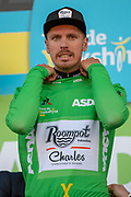 Boy Van Poppel of Roompot–Charles on stage at the end of stage 2 of the Tour de Yorkshire from Barnsley to Bedale, Barnsley, United Kingdom on 3 May 2019.