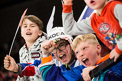 Supporters of France after France won during the 2017 IIHF Men's World Championship group B Ice hockey match between National Teams of Switzerland and France, on May 9, 2017 in Accorhotels Arena in Paris, France. Photo by Vid Ponikvar / Sportida