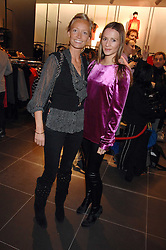 Left to right, MARTHA WARD and AMANDA CROSSLEY at a party to celebrate the opening of the new H&M store at 234 Regent Street, London on 13th February 2008.<br />