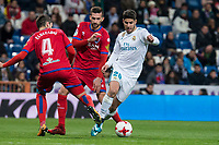 Real Madrid Marco Asensio and CD Numancia /nu04& during King's Cup match between Real Madrid and CD Numancia at Santiago Bernabeu Stadium in Madrid, Spain. January 10, 2018. (ALTERPHOTOS/Borja B.Hojas)