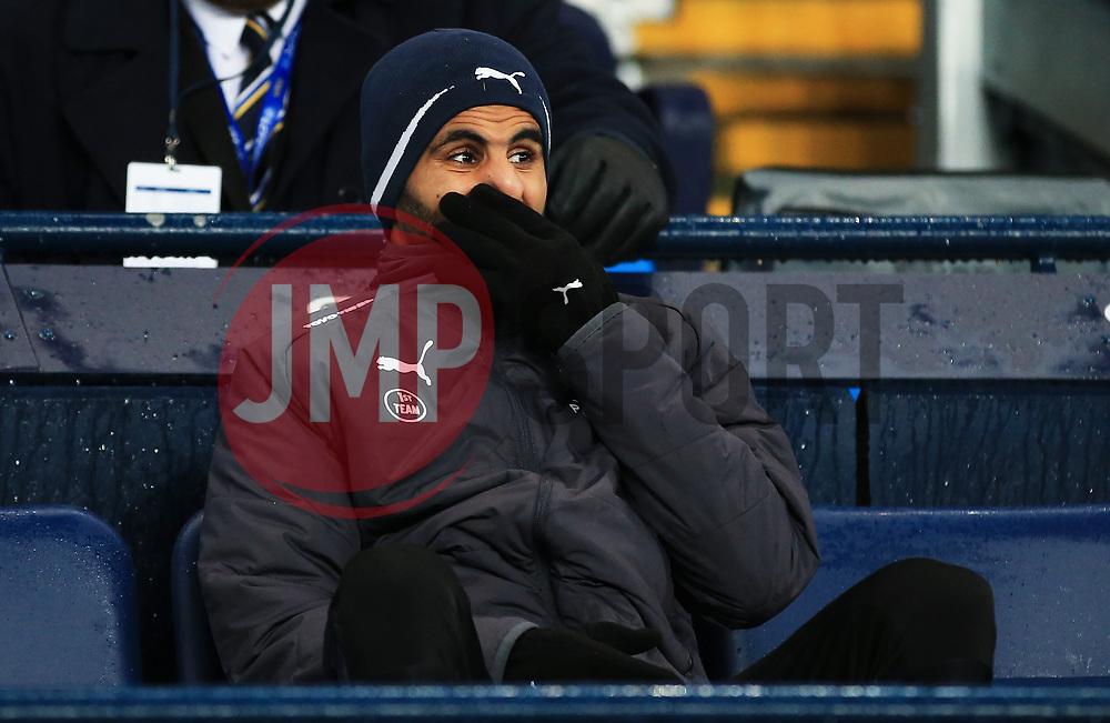 Riyad Mahrez of Leicester City sits on an empty substitutes bench - Mandatory by-line: Matt McNulty/JMP - 10/02/2018 - FOOTBALL - Etihad Stadium - Manchester, England - Manchester City v Leicester City - Premier League