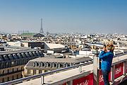 Vue sur Paris depuis la terrasse des Galeries Lafayette // View of Paris from Galeries Lafayette