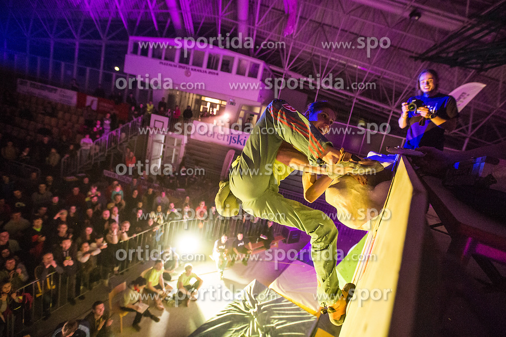 National championship in boulder climbing on November 30, 2014 in Kranj, Slovenia. (Photo By Grega Valancic / Sportida)
