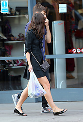 Actress Keira Knightley and husband, Klaxons musician James Righton, out and about in London. Keira was wearing a sheer black dress, pair of Chanel summer flats and carrying a grey quilted Chanel bag looked very stylish as she and her husband were spotted shopping for groceries.  UK. 22/8/2013<br />