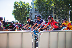Aude Biannic (FRA) of Movistar Women's Team rides mid-pack during Stage 2 of the Madrid Challenge - a 100.3 km road race, starting and finishing in Madrid on September 16, 2018, in Spain. (Photo by Balint Hamvas/Velofocus.com)