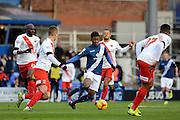 Birmingham City midfielder Demarai Gray attacks during the Sky Bet Championship match between Birmingham City and Charlton Athletic at St Andrews, Birmingham, England on 21 November 2015. Photo by Alan Franklin.
