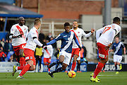 Birmingham City midfielder Demarai Gray attacks during the Sky Bet Championship match between Birmingham City and Charlton Athletic at St Andrews, Birmingham, England on 21 November 2015. Photo by Alan Franklin.