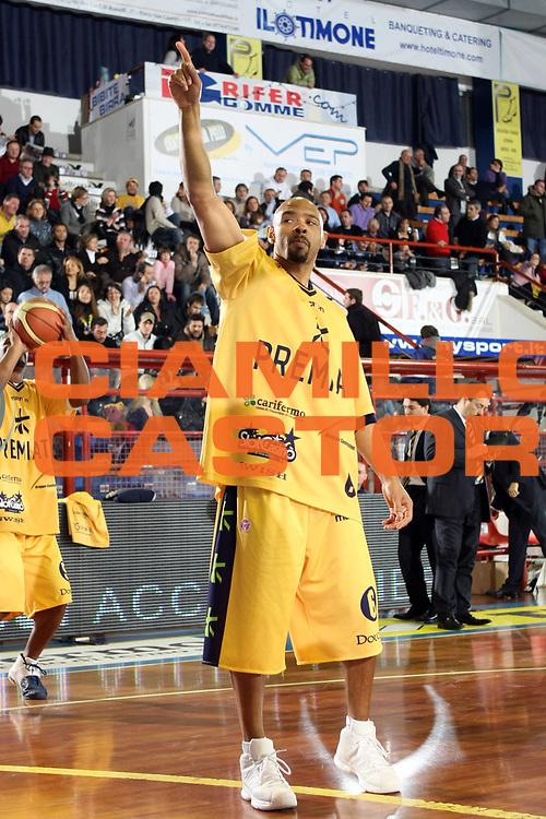 DESCRIZIONE : Porto San Giorgio Lega A1 2008-09 Premiata Montegranaro Solsonica Rieti<br /> GIOCATORE : Kiwane Garris<br /> SQUADRA : Premiata Montegranaro<br /> EVENTO : Campionato Lega A1 2008-2009<br /> GARA : Premiata Montegranaro Solsonica Rieti<br /> DATA : 25/01/2009<br /> CATEGORIA : <br /> SPORT : Pallacanestro<br /> AUTORE : Agenzia Ciamillo-Castoria/C.De Massis