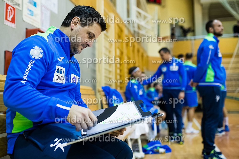 Ljubomir Vranjes head coach of Slovenia during friendly handball match between national teams Slovenia and Montenegro on 4th Januar, 2020, Trbovlje, Slovenia. Photo By Grega Valancic / Sportida