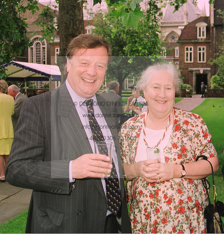 MR & MRS KENNETH CLARKE MP he is the former Chancellor of the Exchequer, at a reception in London on 22nd June 1998.MIP 18 2OLO
