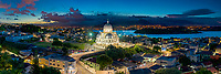 Brasil - ES - Vitoria - Vista panoramica noturna do Santuario Basílica de Santo Antonio. Foto: David Protti