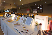 "Buchmesse Frankfurt, biggest book fair in the World. Temporary restaurant ""Trilogie"" with receipes by chefs writing books for the Grman editor Tre Torri."