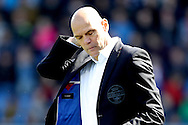 01-05-2016 VOETBAL:WILLEM II - FEYENOORDTILBURG<br /> Trainer/Coach Jurgen Streppel van Willem II teleurgesteld nu de nacompetitie zeer dichtbij komt<br /> <br /> <br /> Foto: Geert van Erven